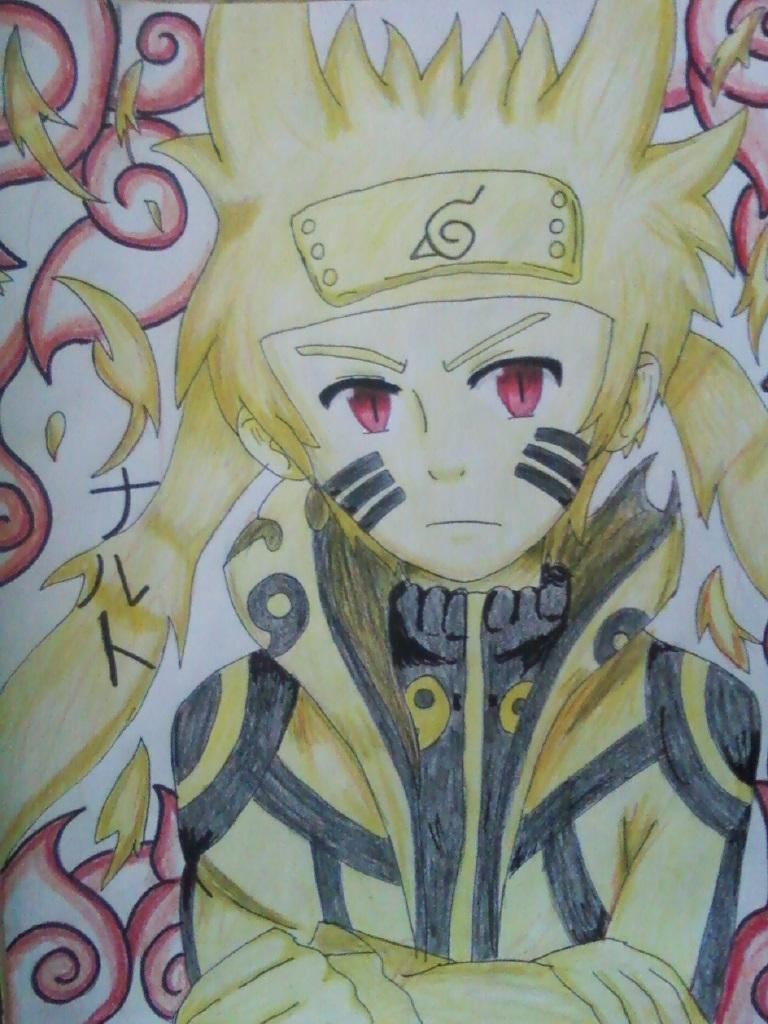 Naruto Bijuu Mode by Spirit-Okami