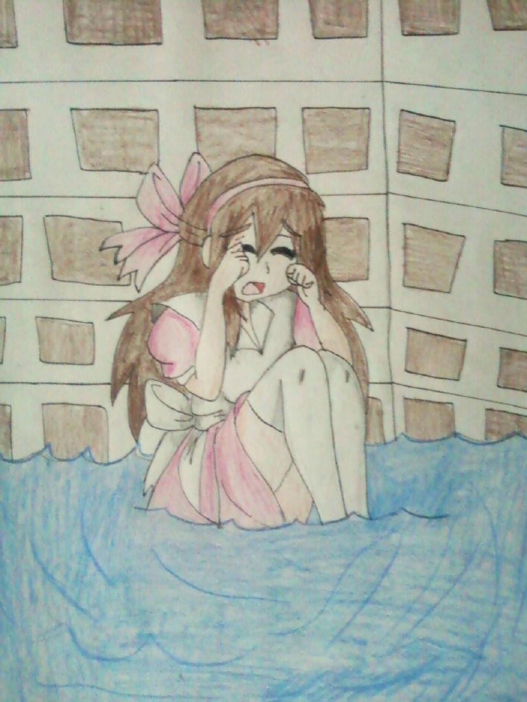 .:Commission:. Aww, Yuna don't cry by Spirit-Okami
