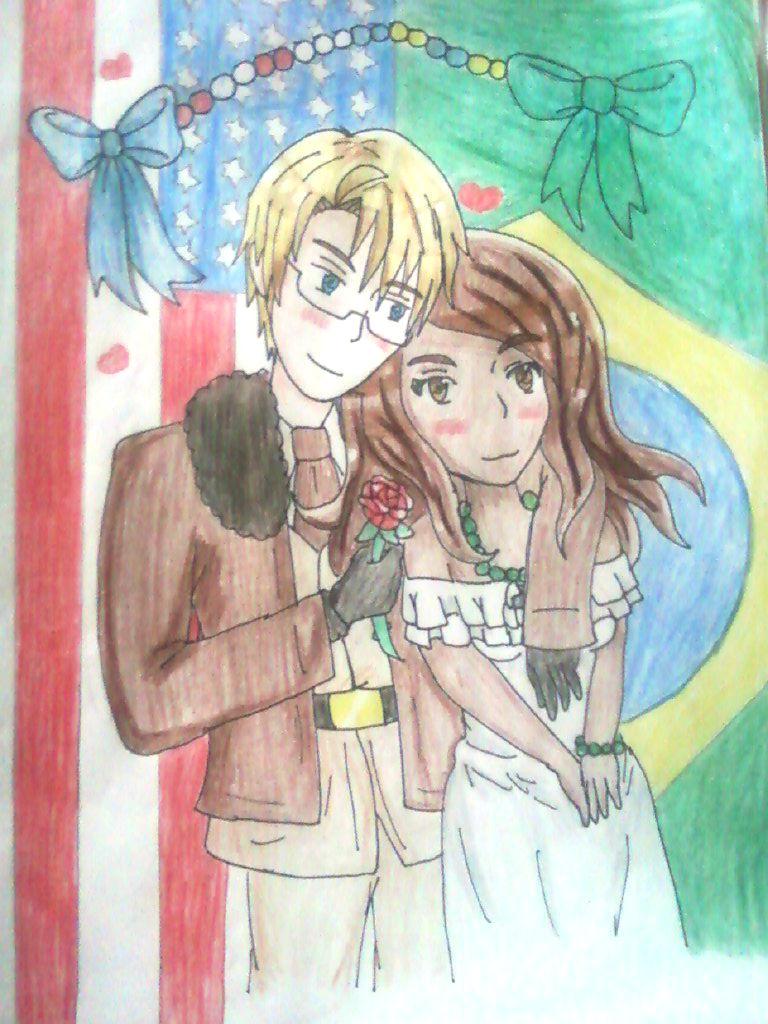 .:Commission:.APH: AmericaxBrazil by Spirit-Okami