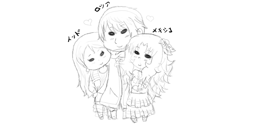 New OT3 sketch by Spirit-Okami