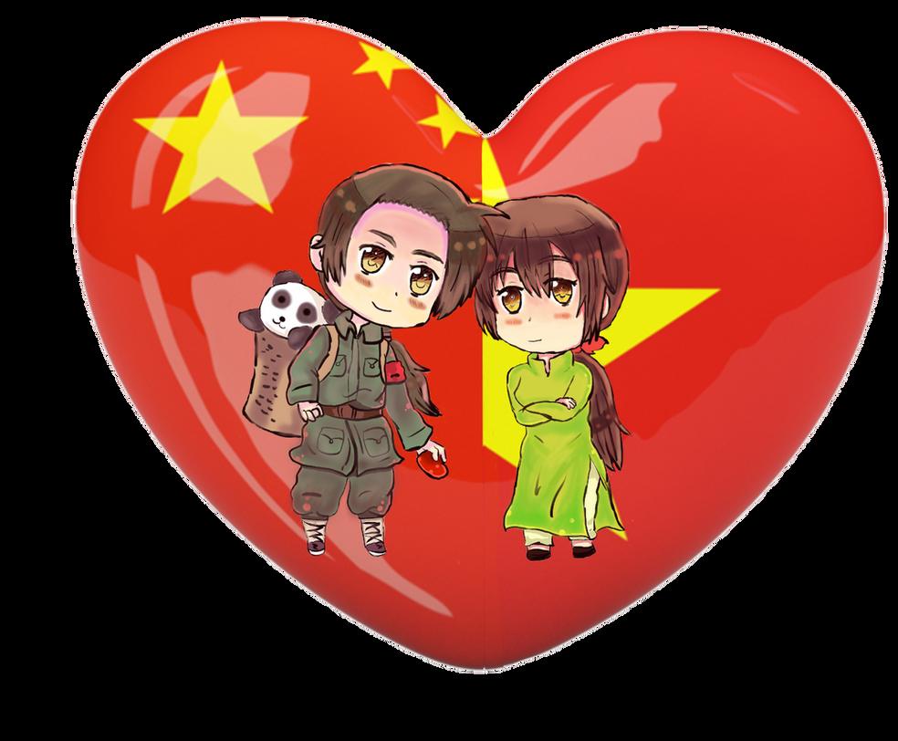 {{PC}} Chibi Heart Flag ChiViet by Spirit-Okami