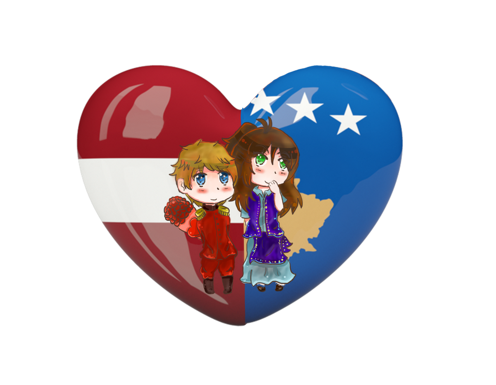 {{PC}}LatKoso Chibi Heart Flag Series by Spirit-Okami