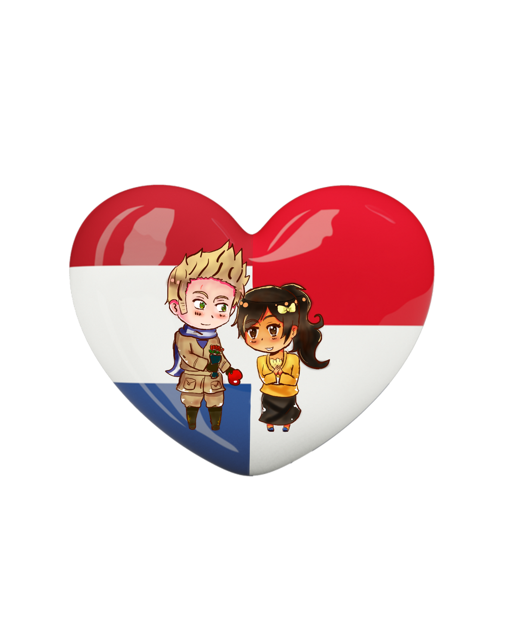 {{PC}} Chibi Heart Flag Series: Nethnisia by Spirit-Okami