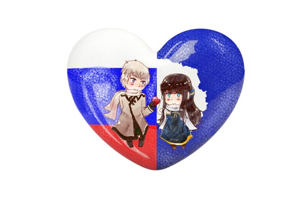 {PC}APH Chibi Heart Flag Series: Russica by Spirit-Okami