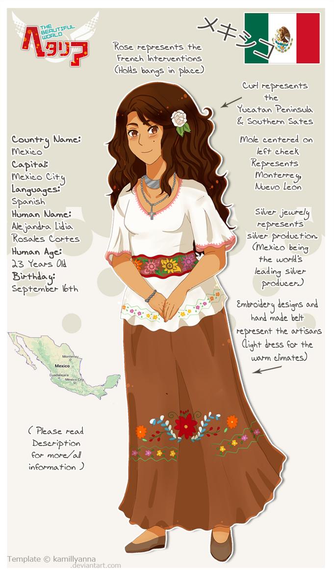 .:APH:. Mexico OC by Spirit-Okami