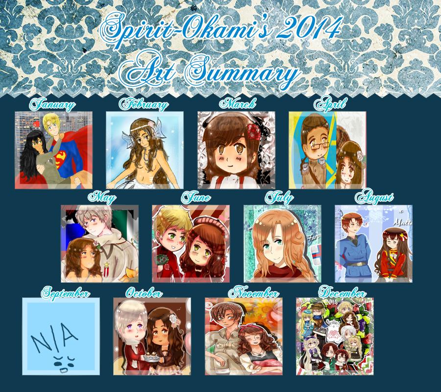 My art summary of 2014 by Spirit-Okami