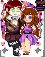 .:Com:. Naruto OCs pixels by Spirit-Okami