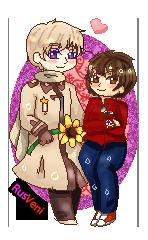 .:COM:. APH Rusveni Pixel Couple by Spirit-Okami
