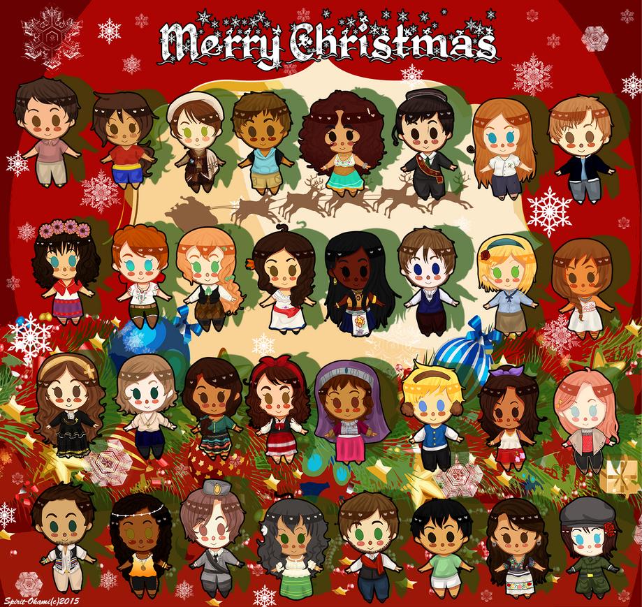 APH: Merry Christmas 2015 by Spirit-Okami