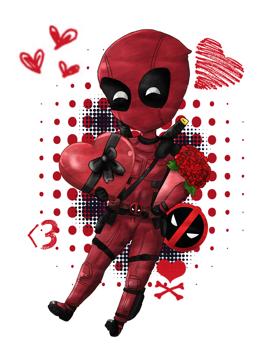 Happy Valentine's Day:Deadpool by Spirit-Okami