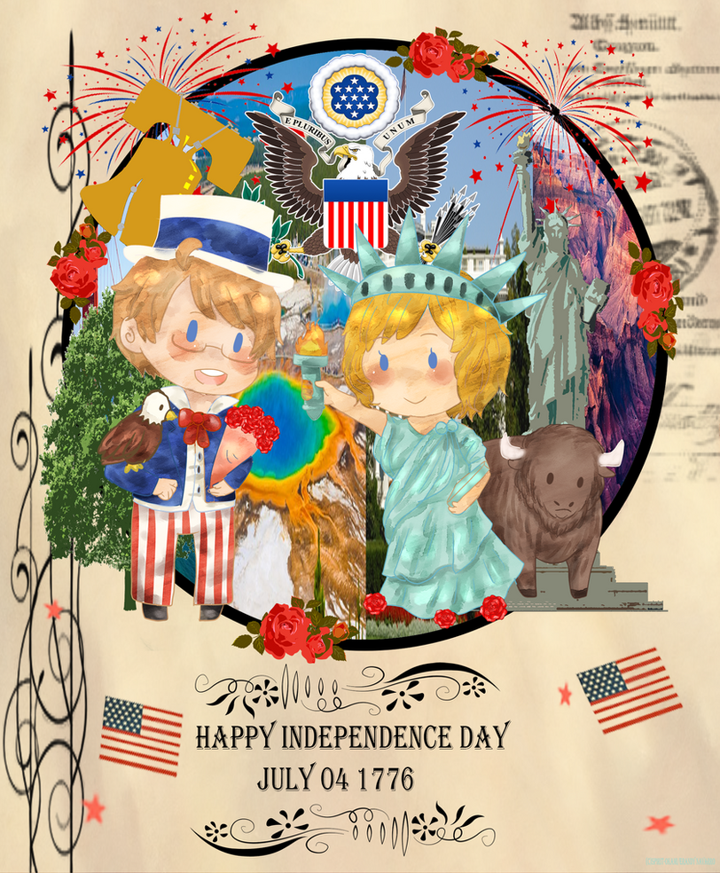 :APH: US-Happy Independence Day by Spirit-Okami
