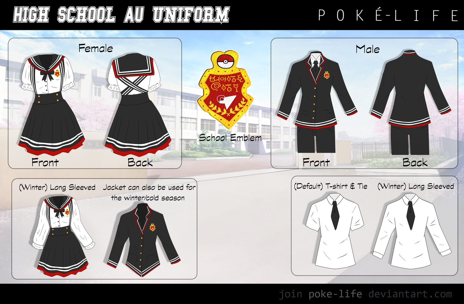 Poke Life- Uniform Guide by Spirit-Okami