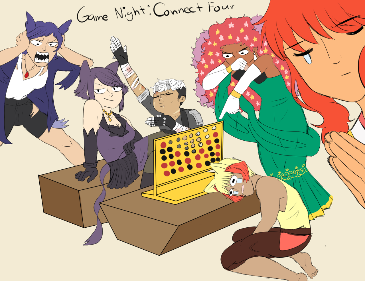 Poke Life: Game Night-Connect Four by Spirit-Okami