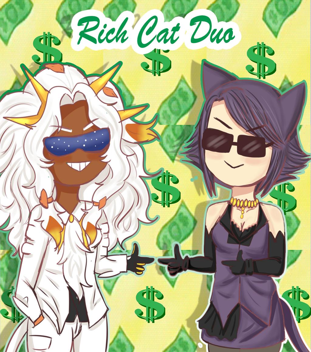 Poke-Life: Rich Cat Duo by Spirit-Okami