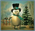 Snowman by SpyKittie