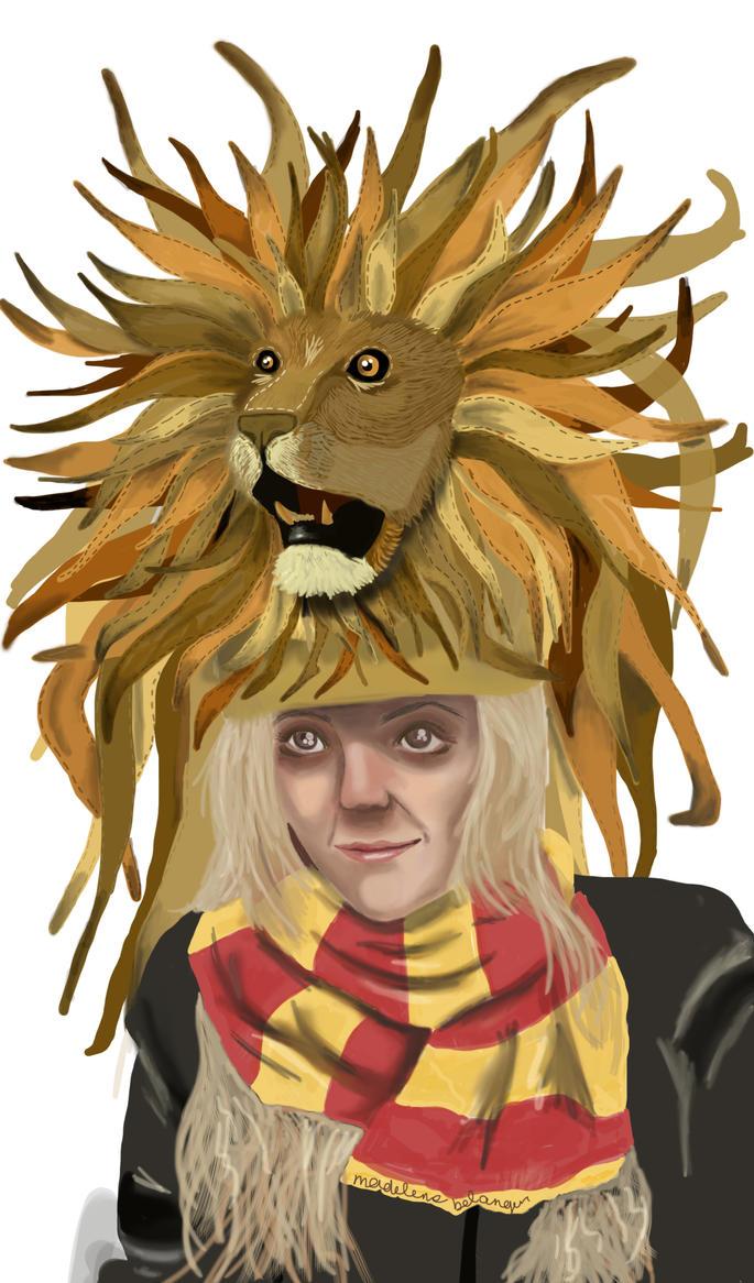 37c93728d10 Luna lovegood lion hat madieebee on deviantart jpg 685x1165 Luna lovegood  lion hat