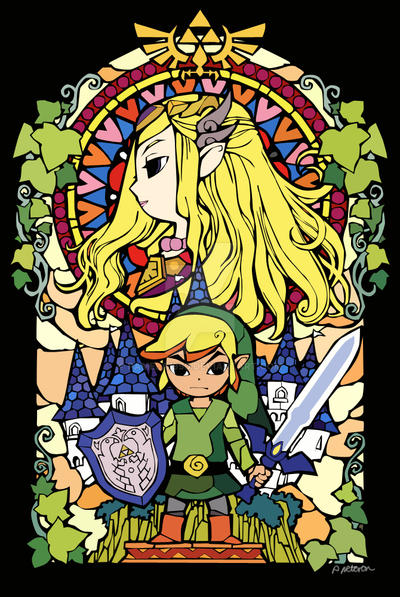 zelda stain glass window by pamela1990 on deviantart