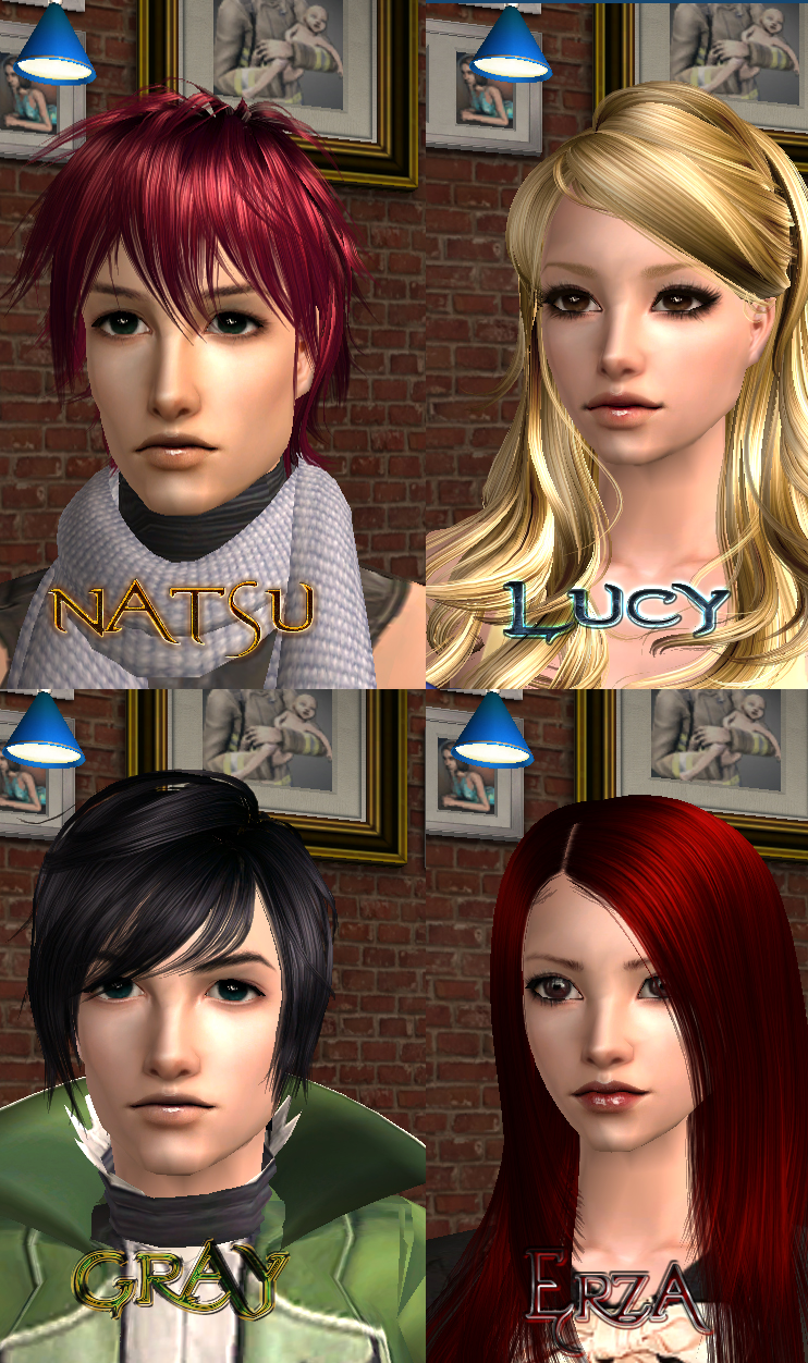 Sims 2 Team Natsu by cheeryY on DeviantArt