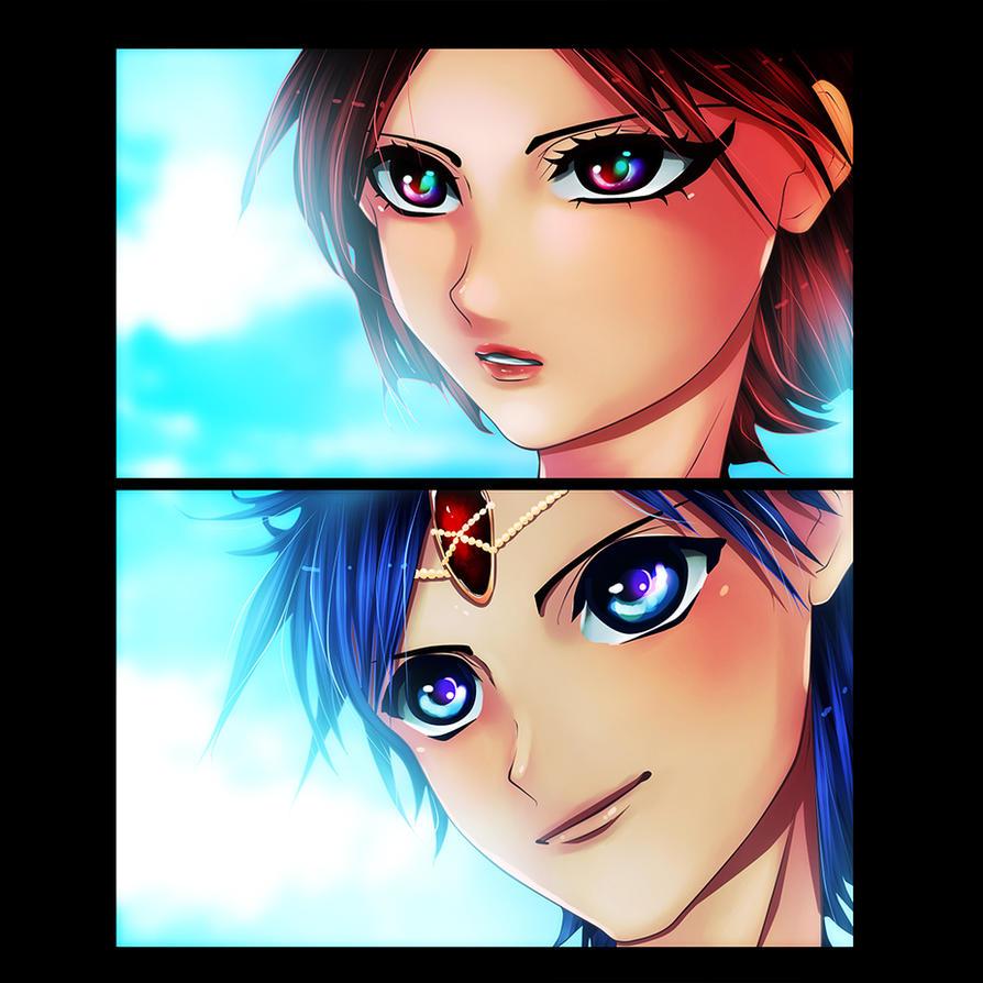 Magi - Aladdin and Morgiana Timeskip by cheeryY