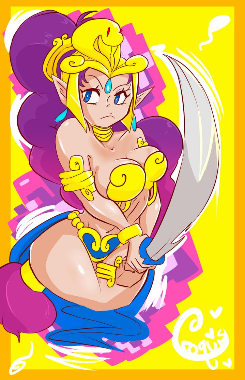 Space Princess Shantae by UltimateSketchQueen