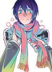 Yato in Hiyori scarf
