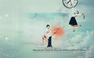 Wallpaper Reality and Fantasy by secretavalon
