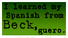 Beck Taught Me Spanish by sheepers
