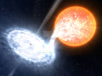 Binary Black Hole by waynemountan