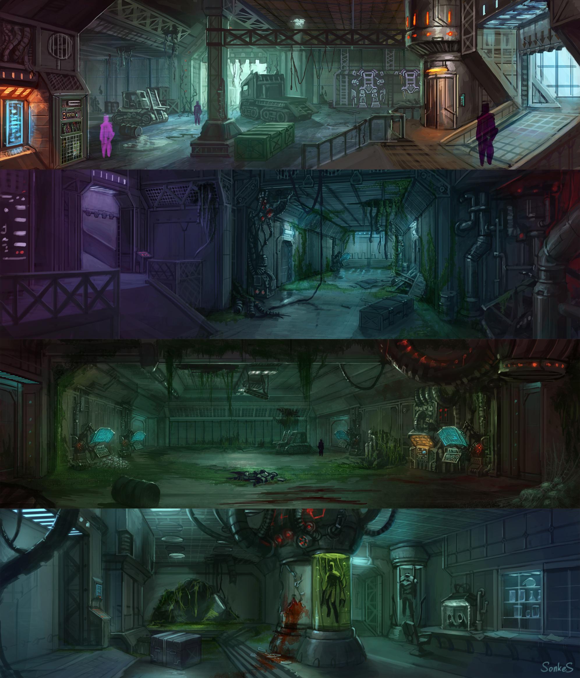 Opuszczony ośrodek pod powierzchnią ziemi Underground_base_by_Real_SonkeS