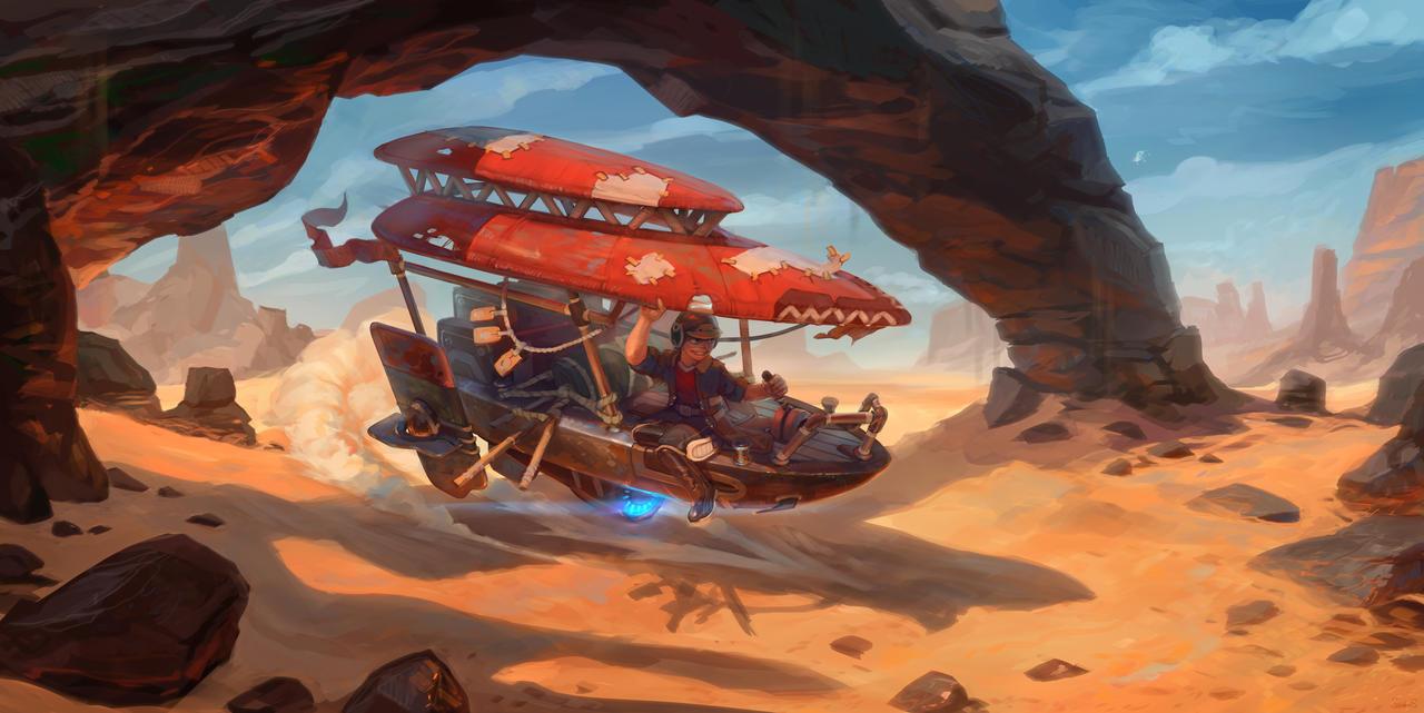 Desert drive by Real-SonkeS