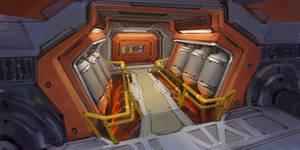 Sci-Fi interior sketch