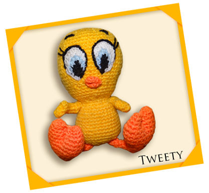 Tweety Bird Amigurumi Pattern – GIFTED CREATIONS BY CINDY | 386x417