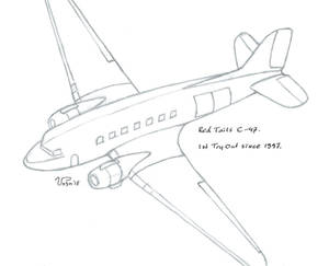 Red Tails - C-47 - by Naughty-b-Nature (SKETCH)
