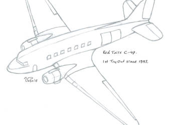Red Tails - C-47 - by Naughty-b-Nature (SKETCH) by Naughty-b-Nature