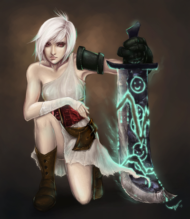 riven the exile from LoL by bonnifairy