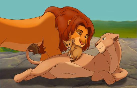 Our little family - Simba, Kiara and Nala