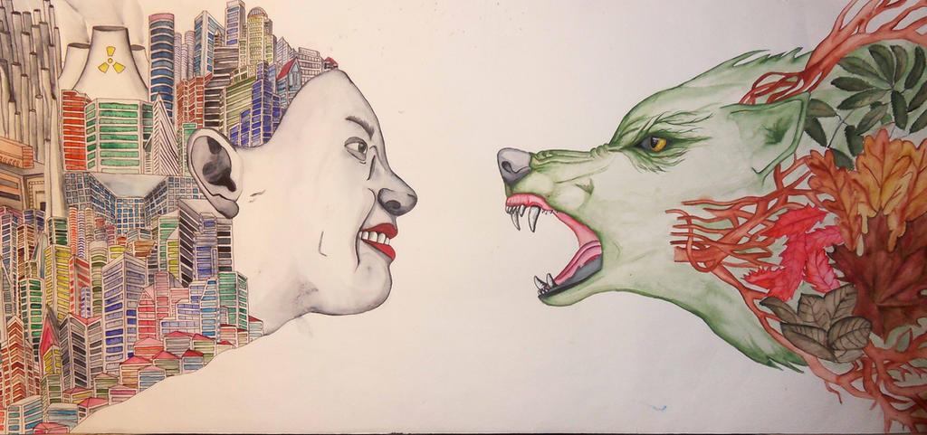vs human