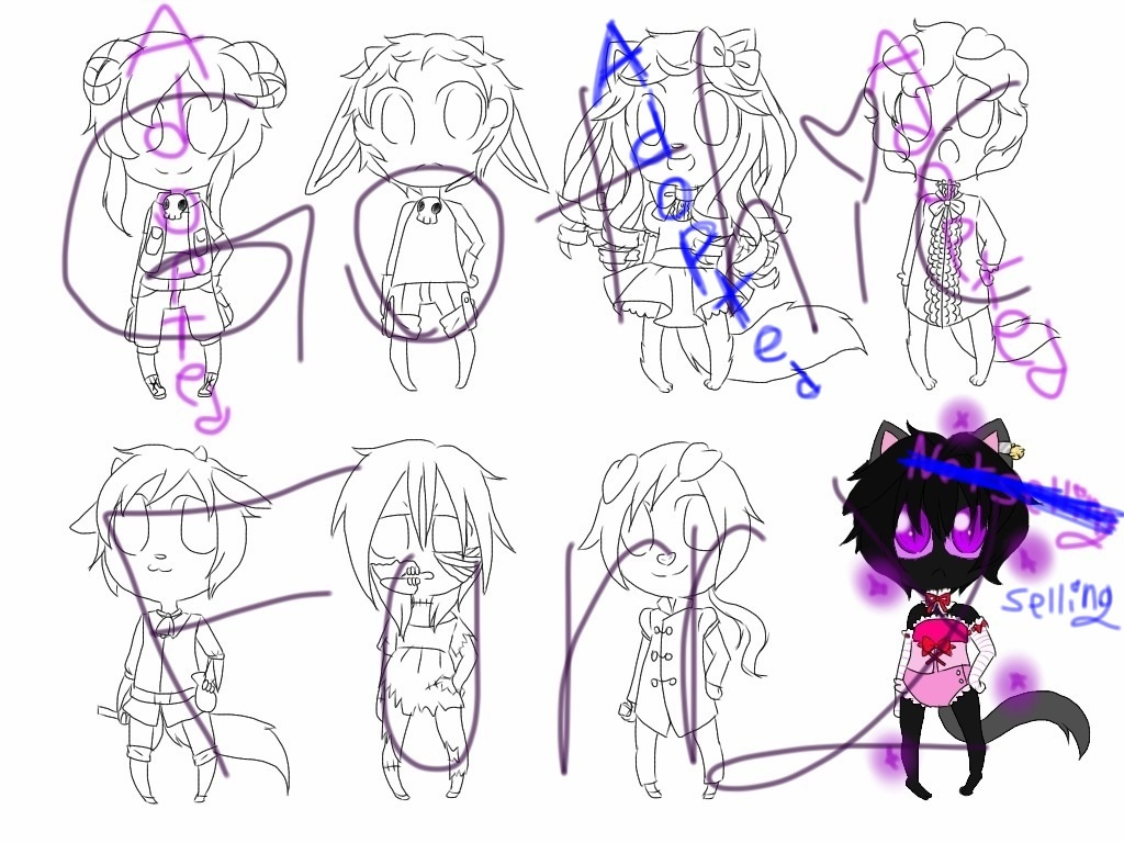 DreamKeepers and some Minecraft adopts by LiveWireGoth