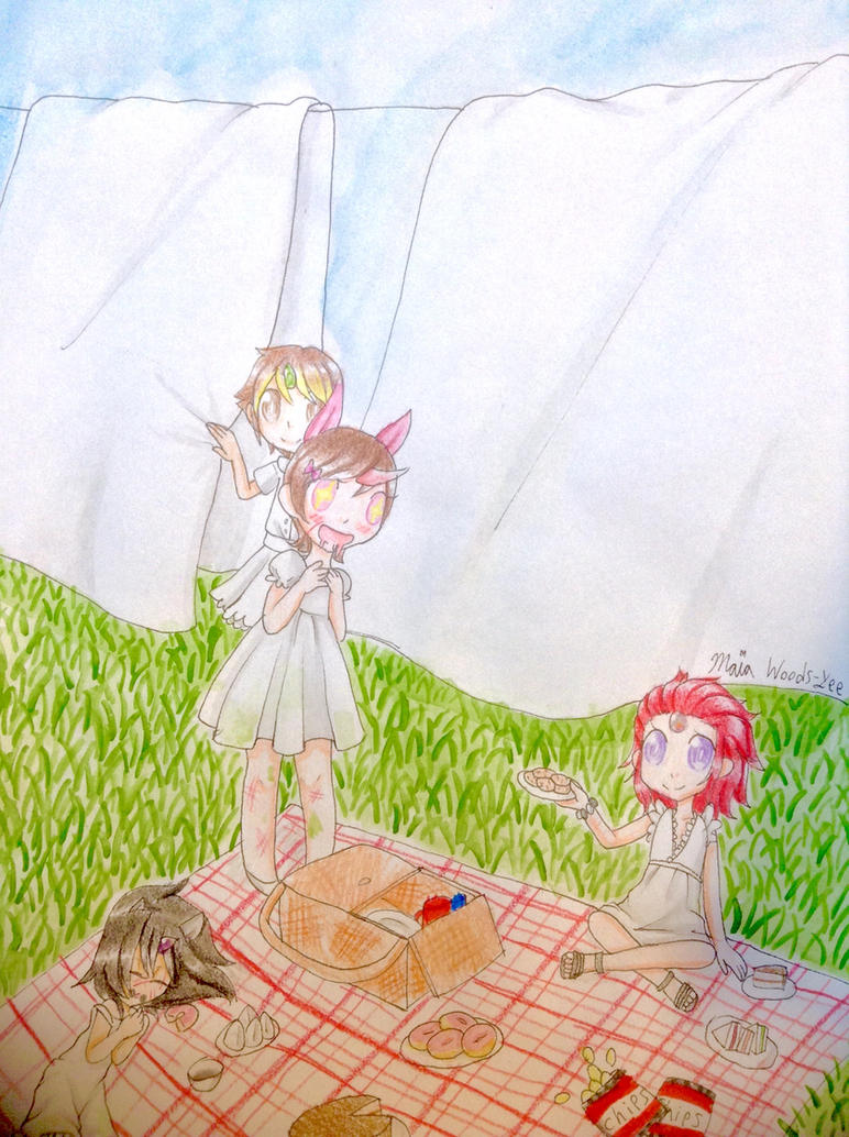 Picnic in the Laundry Close Up by LiveWireGoth