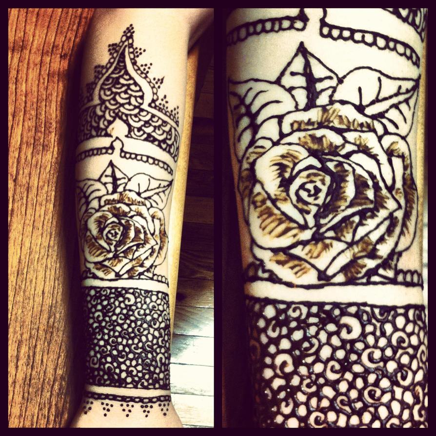Henna Sleeve Tattoo Henna sleeve by gennavieveHenna Tattoo Arm Sleeve