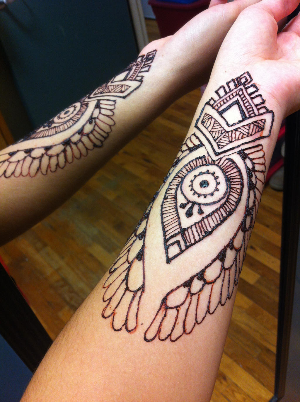 Henna arm 3 by gennavieve on deviantart for Henna tattoo arm designs