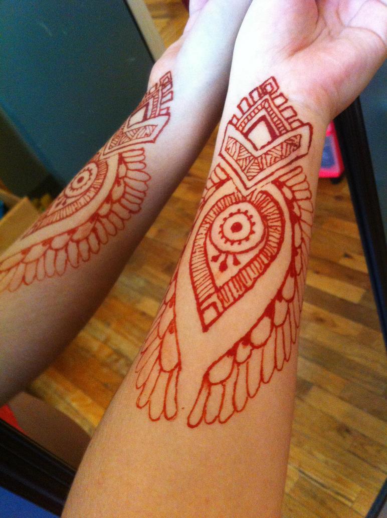 Lower Arm Henna Tattoo: Henna Arm 3 Red By Gennavieve On DeviantArt