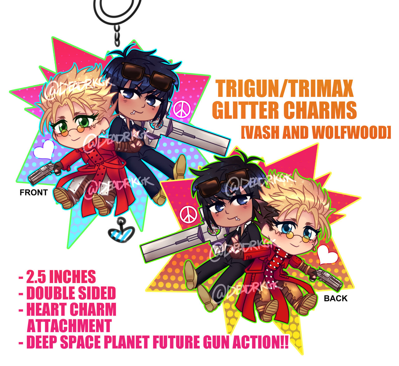 trigun__vash_and_wolfwood__glitter_charm