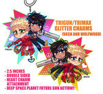 TRIGUN [Vash and Wolfwood] Glitter Charms