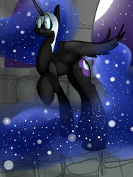 Nightmare moon by ZeldaSonicCat