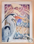 Heron papercut by Luna2330