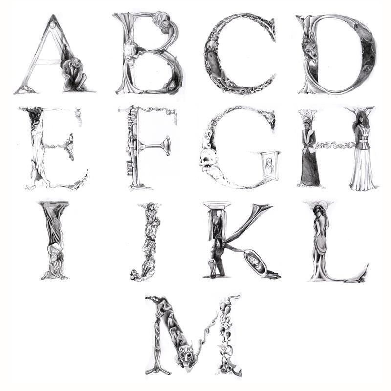 Alfabeto - Literatura Gotica by macillustrator