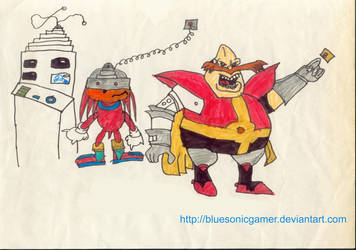 Knuckles and Dr. Robotnik by BlueSonicGamer