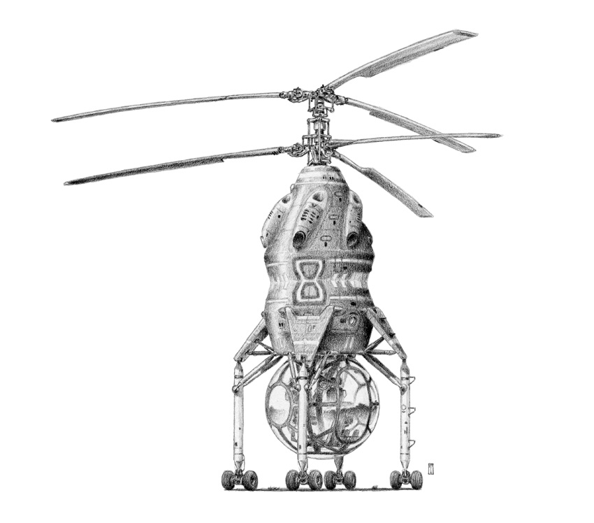 Surveillance Helicopter by liquidforests