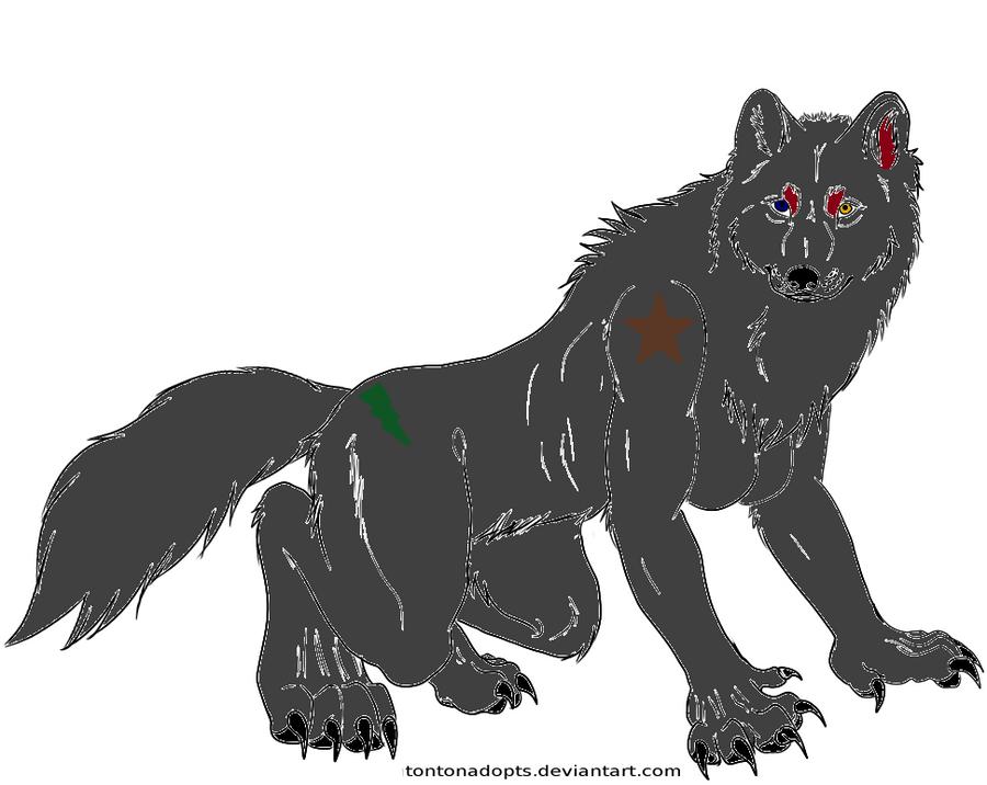 Werewolf Commission for Sakura-the-Hedgehog9! by StyxxsOmega